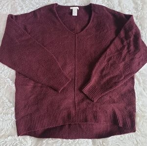 Wool Sweater Dark Red